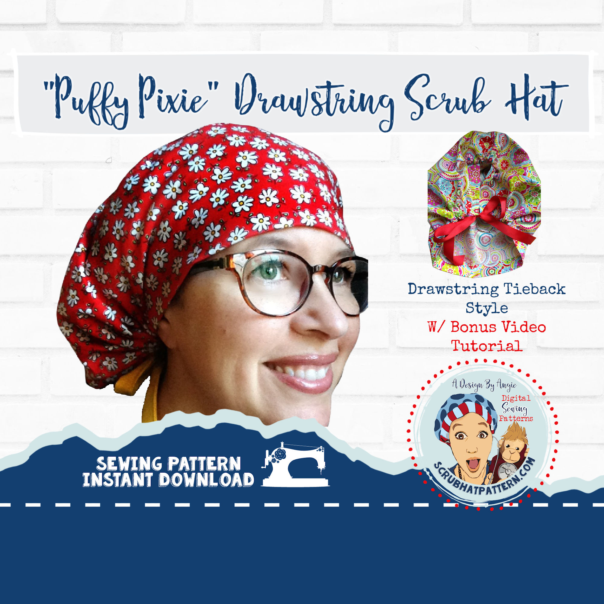 Puffy puxie Scrub Cap Sewing Pattern